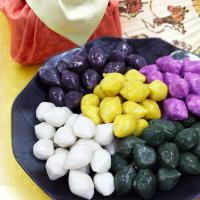 쫄깃한 모시떡 및 송편골라담기[오색송편(호박+자색고구마+흑미+쑥+흰송편)/쑥송편/흰송편]