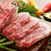 [순빛살] 구룡농장 무항생제 돼지 목살1kg(구이)-(fresh)