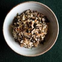 우엉묵나물밥